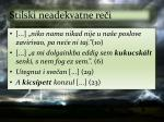 stilski neadekvatne re i