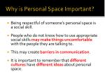 why is personal space important