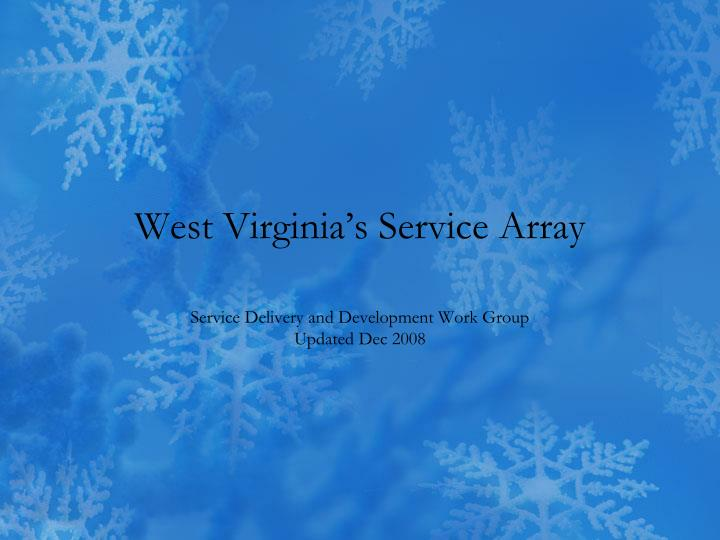 west virginia s service array n.