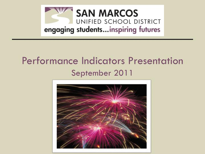 performance indicators presentation september 2011 n.