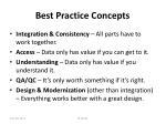 best practice concepts