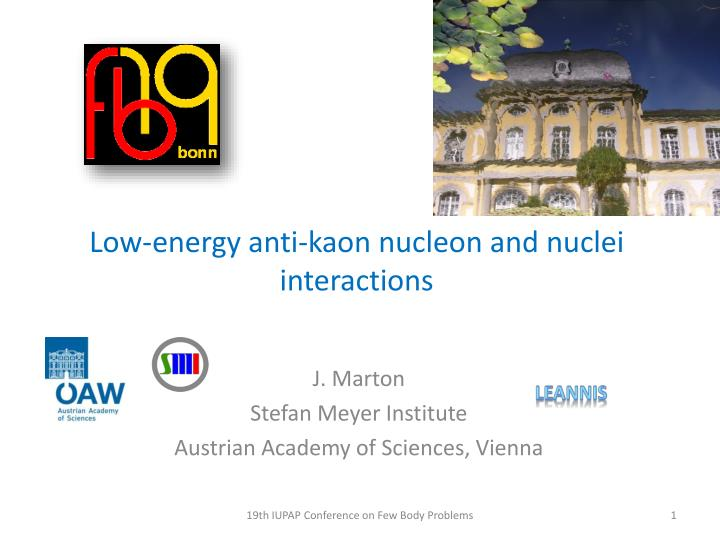 low energy anti kaon nucleon and nuclei interactions n.