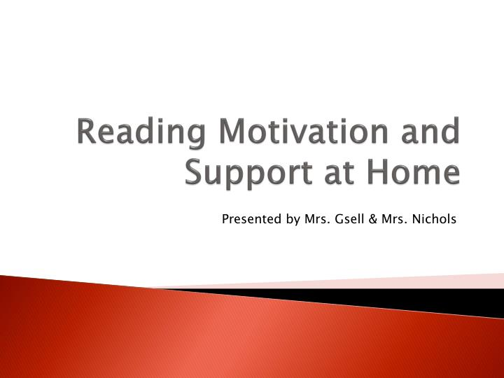 reading motivation and support at home n.