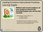 leading formative instructional practices learning targets1