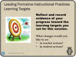 leading formative instructional practices learning targets3