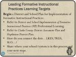 leading formative instructional practices learning targets4