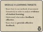 module 4 learning targets