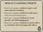 module 5 learning targets
