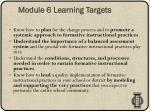 module 6 learning targets