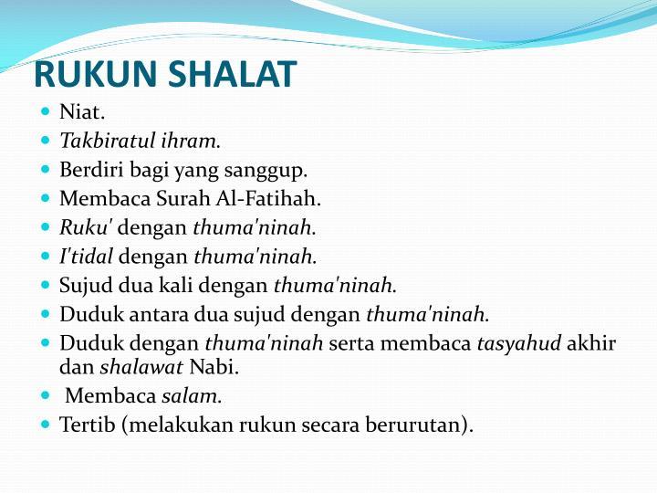 RUKUN SHALAT