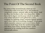 the point of t he second book