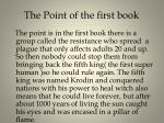 the point of the first book