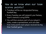 how do we know when our team scores points