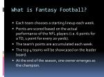 what is fantasy football1