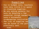 supplies