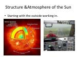 structure atmosphere of the sun