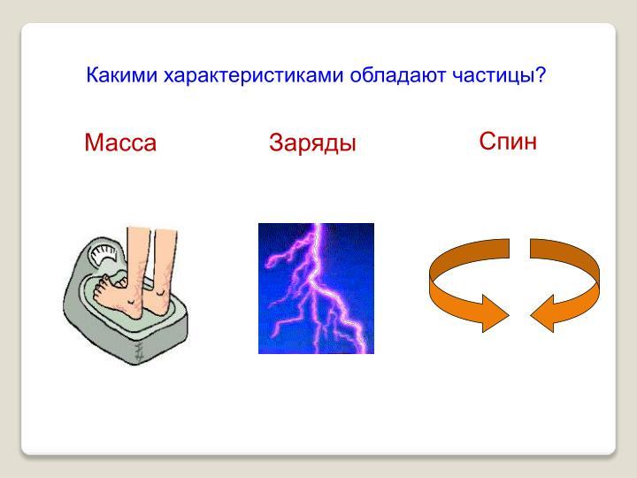 Какими характеристиками обладают частицы?