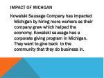impact of michgan