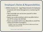 employee s duties responsibilities