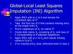 global local least squares imputation ini algorithm