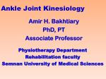ankle joint kinesiology