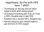 hypothesis do pts with hps have eno1