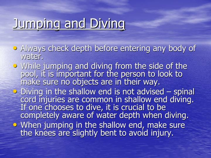 Jumping and Diving