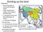 dividing up the land