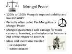 mongol peace