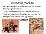 uniting the mongols