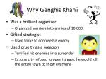 why genghis khan