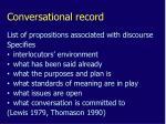conversational record
