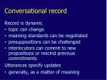 conversational record1