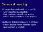 games and reasoning1