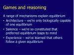 games and reasoning2