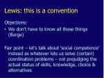 lewis this is a convention1
