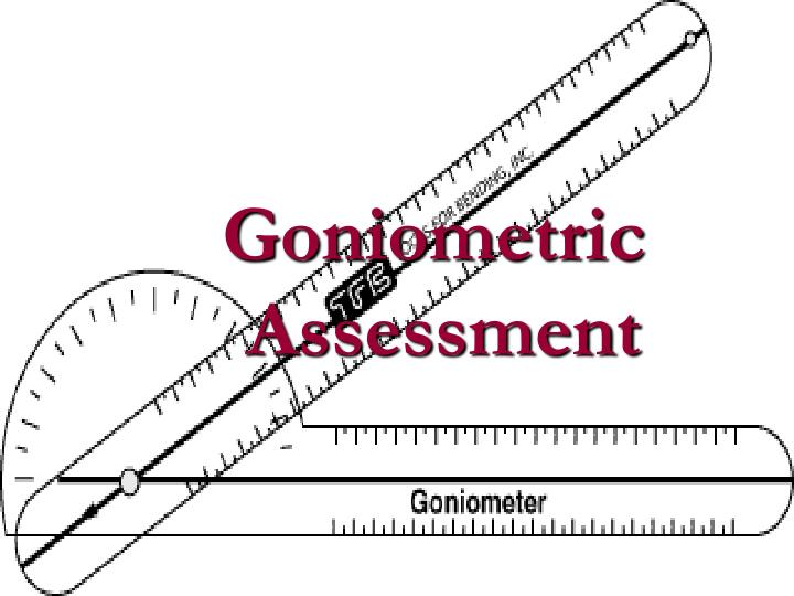 goniometric assessment n.