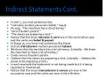 indirect statements cont