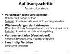 aufl sungsschritte termination steps