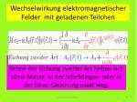 wechselwirkung elektromagnetischer felder mit geladenen teilchen