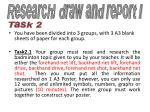 research draw and report i