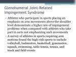 glenohumeral joint related impingement syndrome3