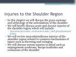 injuries to the shoulder region1