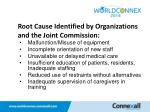 root cause identified by organizations and the joint commission