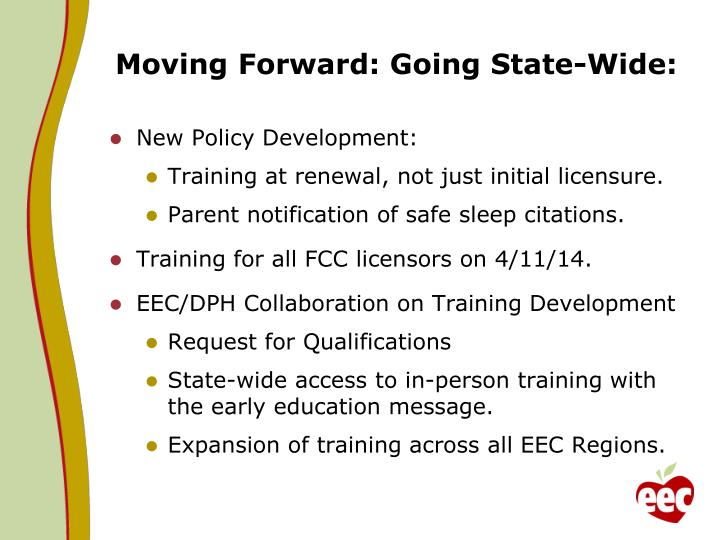Moving Forward: Going State-Wide: