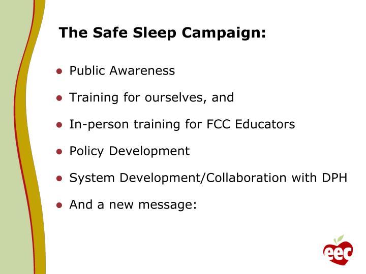 The Safe Sleep Campaign: