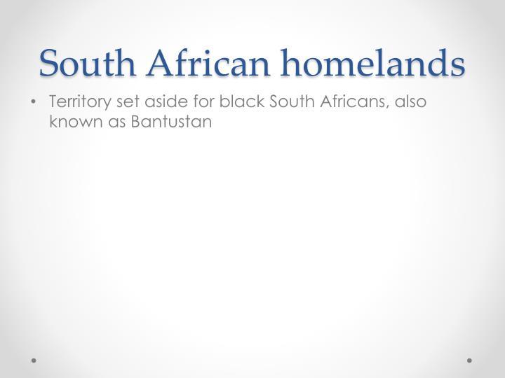 South African homelands