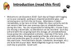 introduction read this first