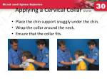 applying a cervical collar 2 of 2
