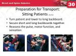 preparation for transport sitting patients 2 of 2